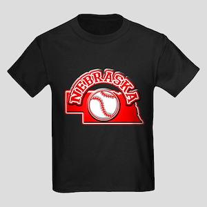 Nebraska Baseball Kids Dark T-Shirt