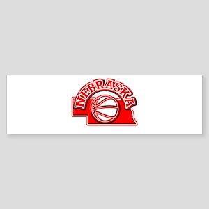 Nebraska Basketball Bumper Sticker