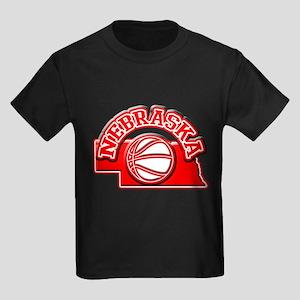 Nebraska Basketball Kids Dark T-Shirt