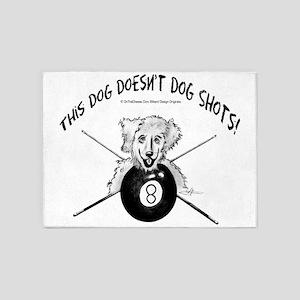 Shaggy Pool Dog 5'x7'Area Rug