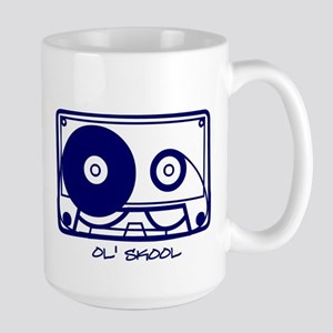 'ol skool tape Large Mug