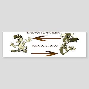 Brown chicken Bumper Sticker