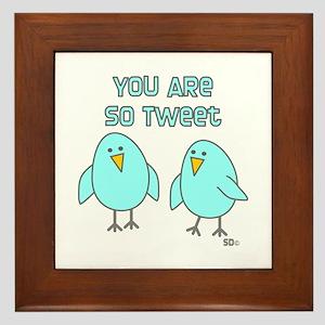 So Tweet Framed Tile