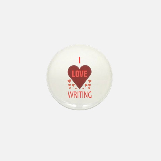 I Love Writing Mini Button