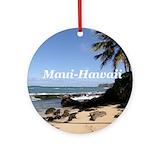 Maui Round Ornaments