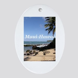 Great Gifts from Maui Hawaii Oval Ornament