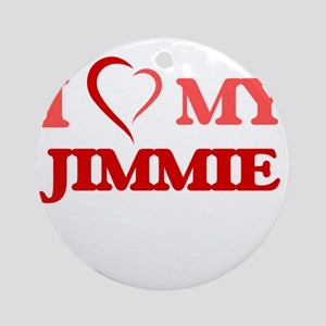 I love my Jimmie Round Ornament