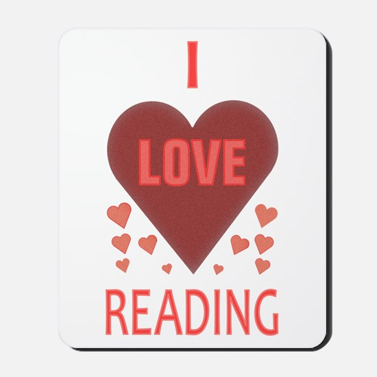 I Love Reading Mousepad