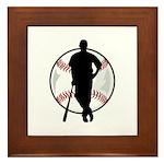 Baseball Catch Framed Tile