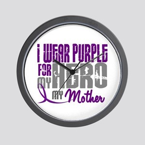 I Wear Purple For My Hero 3 (Mother) Wall Clock