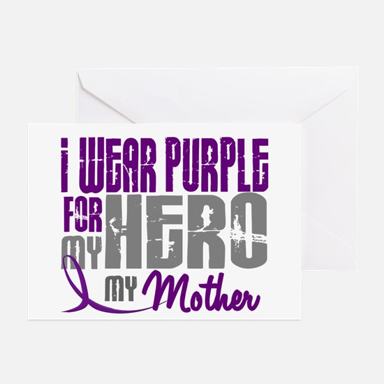 I Wear Purple For My Hero 3 (Mother) Greeting Card