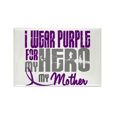 I Wear Purple For My Hero 3 (Mother) Rectangle Mag