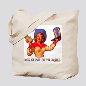 Cowgirl Shopping Economy Tote Bag