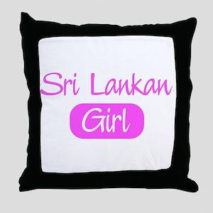 Sri Lankan girl Throw Pillow