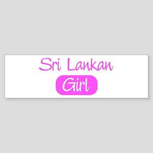 Sri Lankan girl Bumper Sticker
