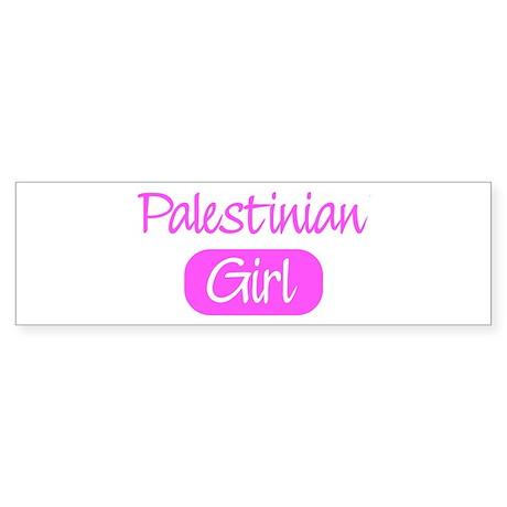 Palestinian girl Bumper Sticker