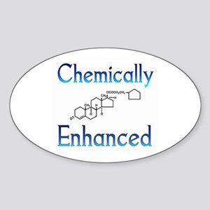 Chemically Ehanced Oval Sticker