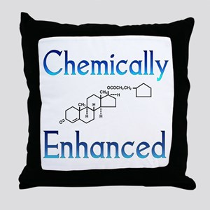 Chemically Ehanced Throw Pillow