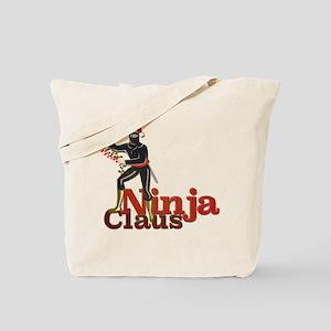 Ninja Claus Tote Bag