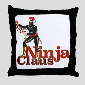 Ninja Claus Throw Pillow