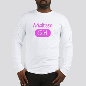 Maltese girl Long Sleeve T-Shirt