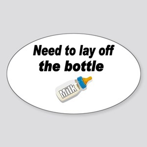 Lay Off Oval Sticker