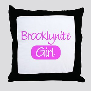 Brooklynite girl Throw Pillow