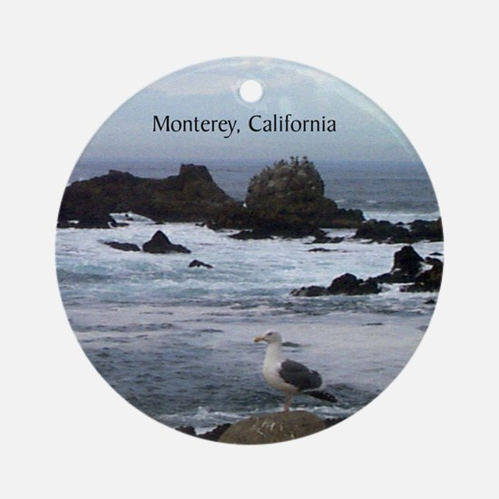 Monterey, California Souvenir Ornament (Round)