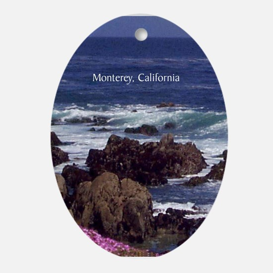 Monterey, California Souvenir Oval Ornament