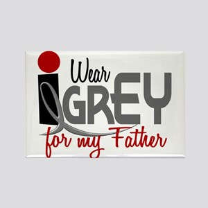 I Wear Grey For My Father 32 Rectangle Magnet