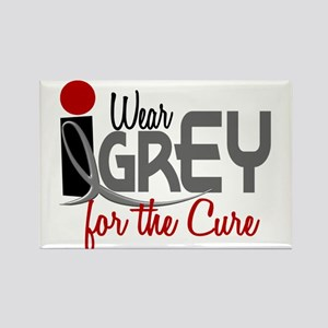 I Wear Grey For The Cure 32 Rectangle Magnet