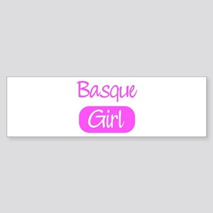 Basque girl Bumper Sticker