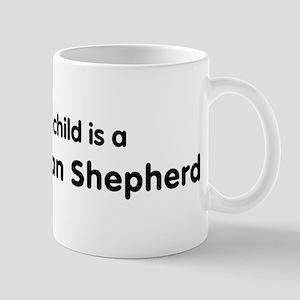 White German Shepherd grandch Mug
