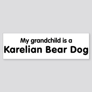 Karelian Bear Dog grandchild Bumper Sticker