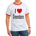 I Love Greensboro Ringer T