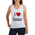 I Love Greensboro (Front) Women's Tank Top