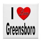 I Love Greensboro Tile Coaster
