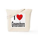 I Love Greensboro Tote Bag
