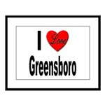 I Love Greensboro Large Framed Print