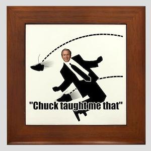 Chuck Taught Me That Framed Tile