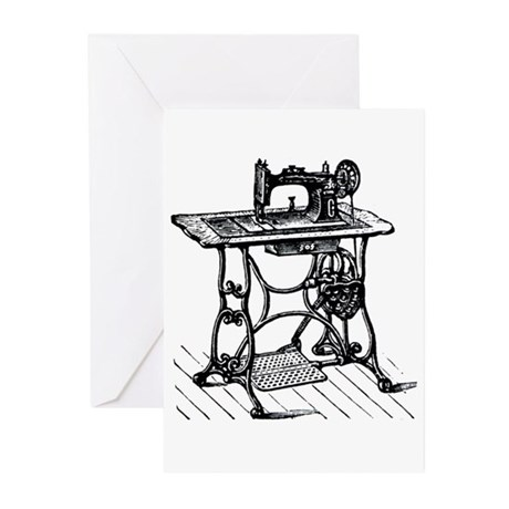 Sewing Machine Greeting Cards (Pk of 10)