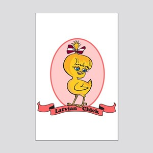 Latvian Chick Mini Poster Print