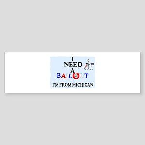 "I need a ""bail out"" I live in Michigan Sticker (Bu"