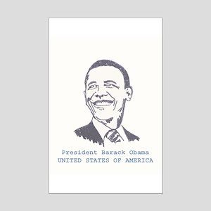 OBAMA SHOPS: Mini Poster Print