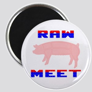"Raw Meet 2.25"" Magnet (10 pack)"