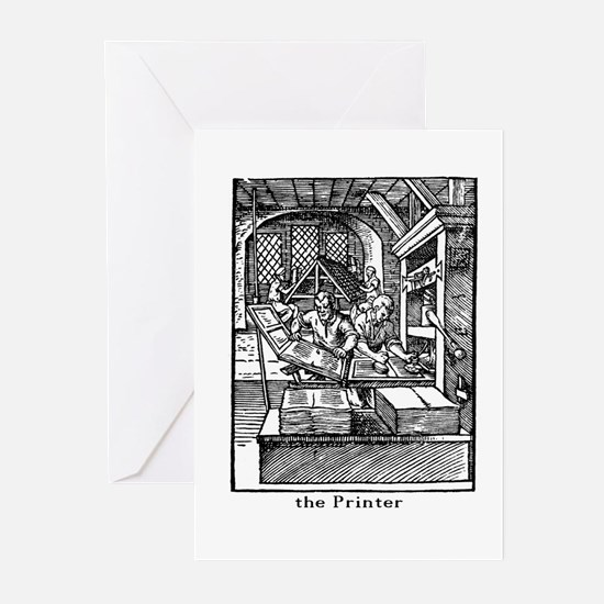 The Printer Greeting Cards (Pk of 20)
