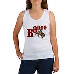 Vintage Rodeo Bronc Rider Women's Tank Top