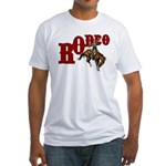 Vintage Rodeo Bronc Rider Fitted T-Shirt