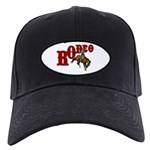 Vintage Rodeo Bronc Rider Black Cap