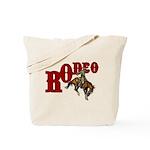 Vintage Rodeo Bronc Rider Tote Bag